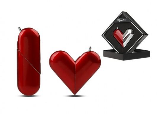 سایت تخفیف و خرید گروهی گلدتگ | فندک دو حالته طرح قلب