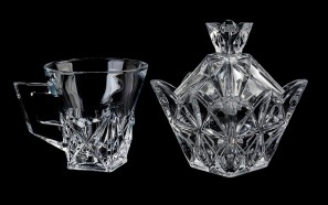 فنجان و قندان بلور Luxe glass